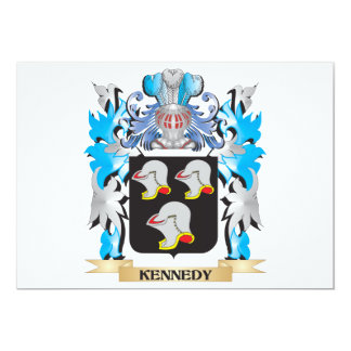 Kennedy Coat of Arms - Family Crest 5x7 Paper Invitation Card