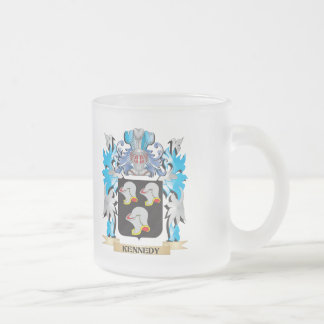 Kennedy Coat of Arms - Family Crest 10 Oz Frosted Glass Coffee Mug