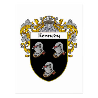 Kennedy Coat of Arms (Mantled) Postcard