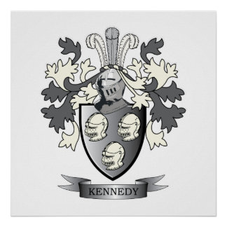 Kennedy Coat of Arms Poster