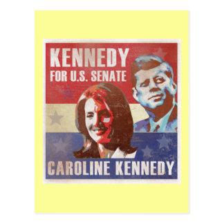 Kennedy comienza la campaña para el senado tarjetas postales