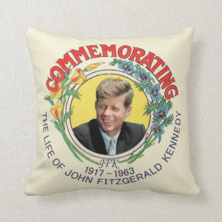 Kennedy Commemoration Throw Pillow