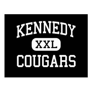 Kennedy - Cougars - High - Cedar Rapids Iowa Postcard