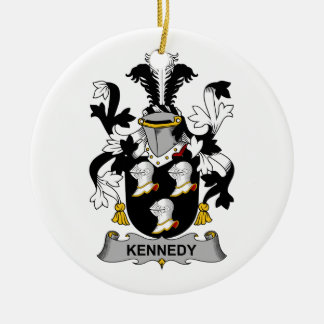 Kennedy Family Crest Ceramic Ornament