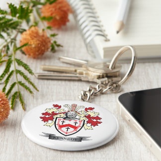 Kennedy Family Crest Coat of Arms Keychain