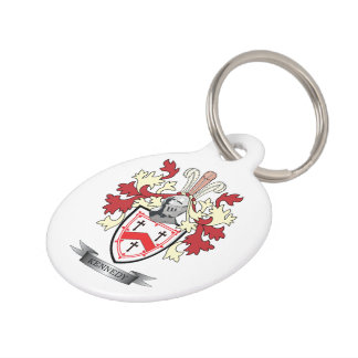Kennedy Family Crest Coat of Arms Pet Tag