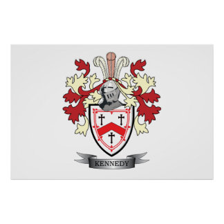 Kennedy Family Crest Coat of Arms Poster
