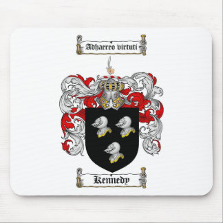 KENNEDY FAMILY CREST -  KENNEDY COAT OF ARMS MOUSE PAD