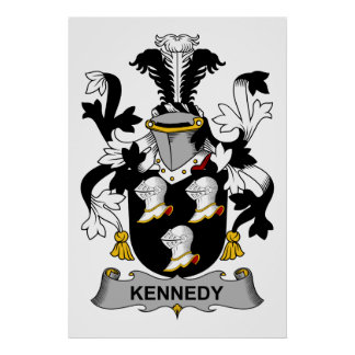 Kennedy Family Crest Poster