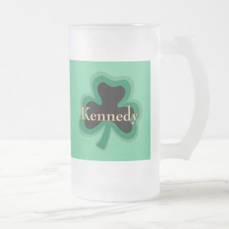 Kennedy Family Frosted Glass Beer Mug