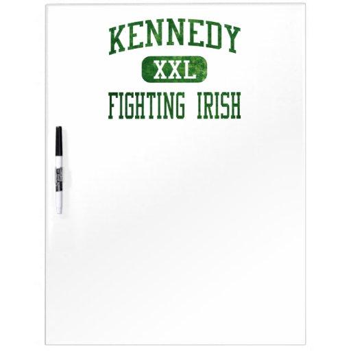 Kennedy Fighting Irish Athletics Dry Erase White Board