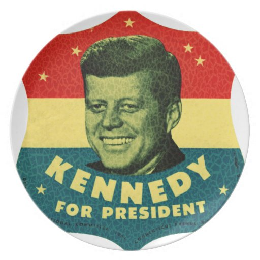 Kennedy for President Dinner Plate