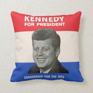 Kennedy for President Throw Pillow
