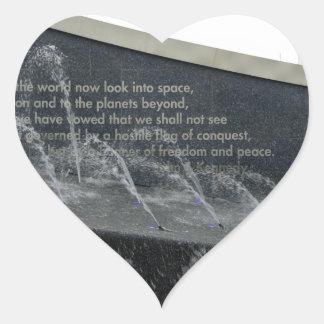 Kennedy Fountain Heart Sticker