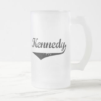 Kennedy Frosted Glass Beer Mug