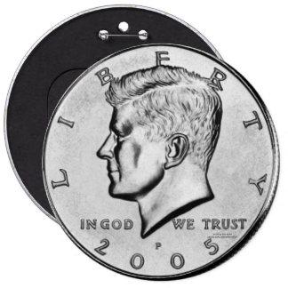 Kennedy Half Dollar Pin