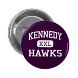 Kennedy - Hawks - High School - Plainview New York Pinback Button