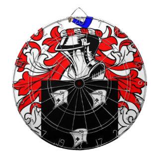 Kennedy (Irish) Coat of Arms Dartboard With Darts