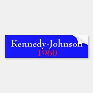 Kennedy-Johnson 1960 Pegatina De Parachoque