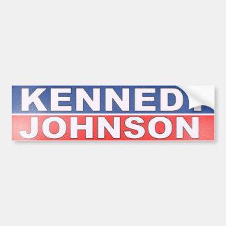 Kennedy Johnson Campaign Car Bumper Sticker
