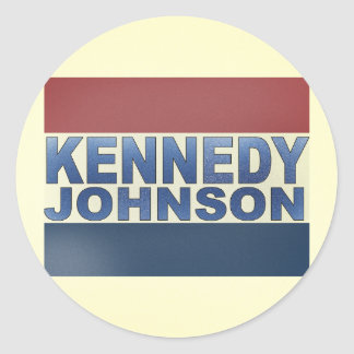Kennedy Johnson Campaign Stickers