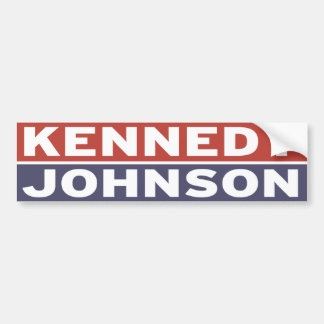 Kennedy/Johnson Pegatina Para Auto
