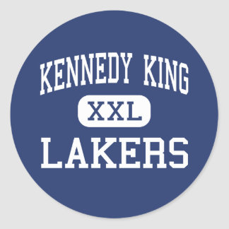 Kennedy King Lakers Middle Gary Indiana Classic Round Sticker