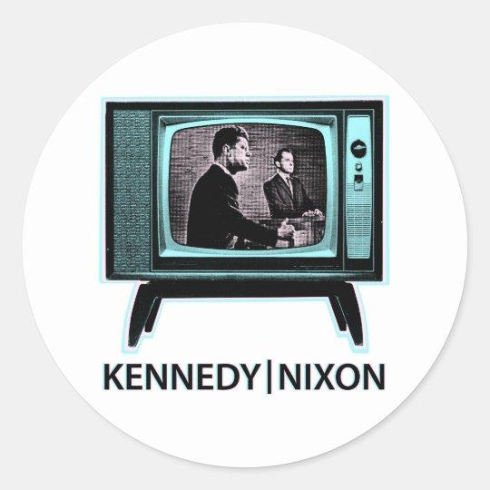 Kennedy Nixon Debate 1960 Classic Round Sticker