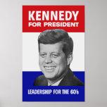 Kennedy para el presidente 1960 póster
