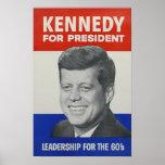 Kennedy para el presidente impresiones