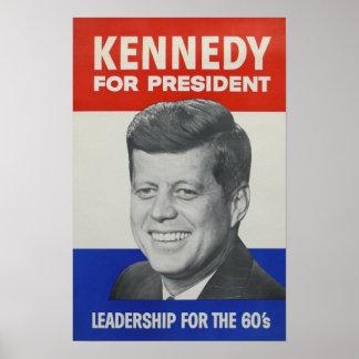 Kennedy para el presidente póster