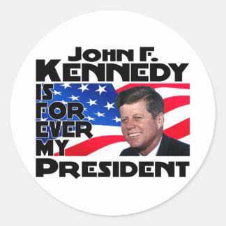 Kennedy para siempre etiqueta redonda