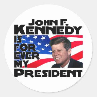Kennedy para siempre pegatinas redondas