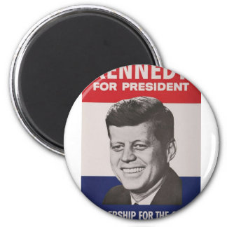 Kennedy Poster 2 Inch Round Magnet
