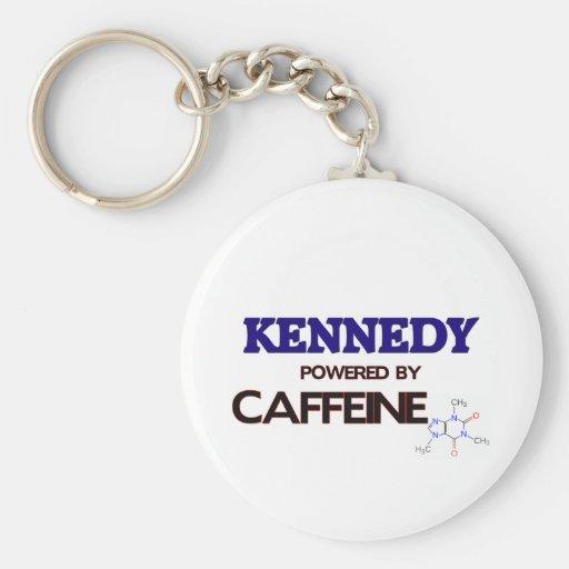Kennedy powered by caffeine basic round button keychain
