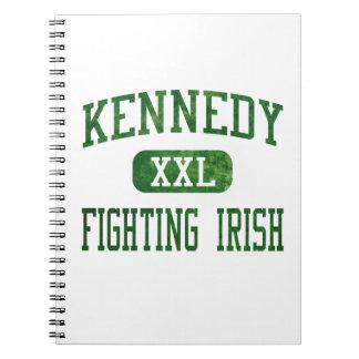 Kennedy que lucha el atletismo irlandés libros de apuntes con espiral