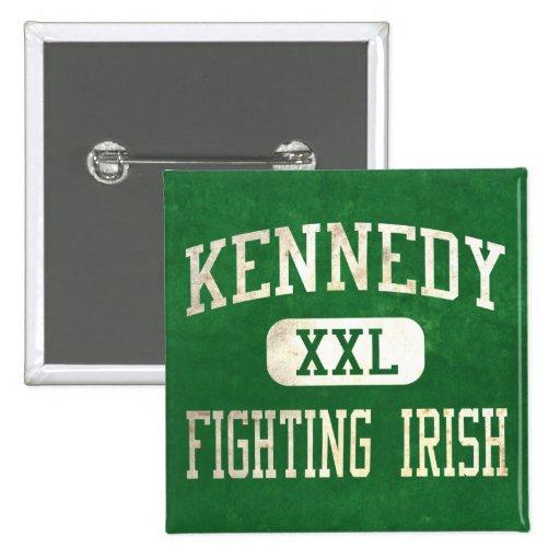 Kennedy que lucha el atletismo irlandés pin