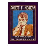 """¿Kennedy, Roberto - """"por qué no? """" Tarjeta De Felicitación"""
