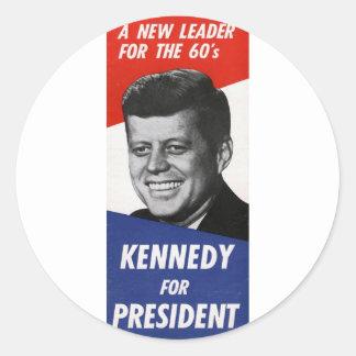 Kennedy Round Stickers