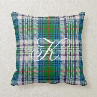 Kennedy Tartan Monogram Pillow