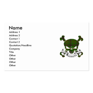 Kennedy Tartan Skull Business Card