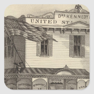 Kennedy's United States Pharmacy, Cape May City Square Sticker