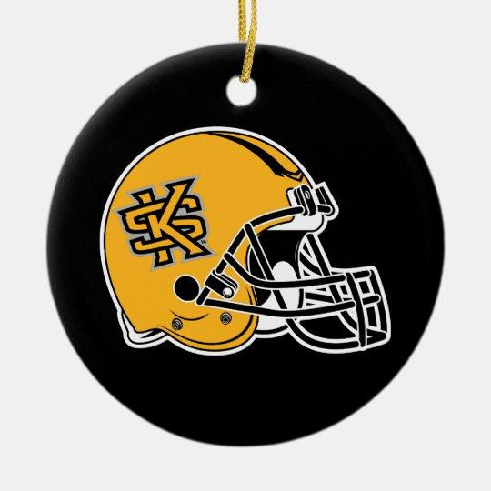 Kennesaw State Helmet Mark Ceramic Ornament Zazzle Com