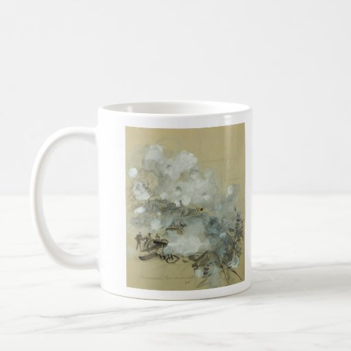 Kennesaw's Bombardment by Alfred Rudolph Waud Classic White Coffee Mug