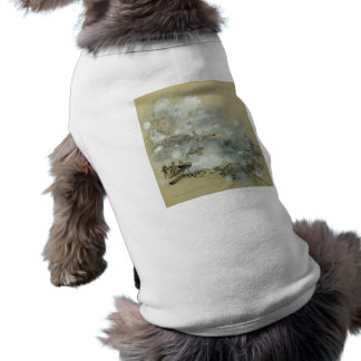 Kennesaw's Bombardment by Alfred Rudolph Waud Pet Tee Shirt