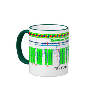 Kennet and Avon Canal Route Map (3 of 4) Ringer Mug