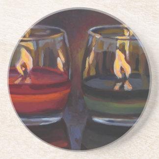 Kenneth_Cobb_InReflection_2014_OilonBoard_5x7.jpg Beverage Coaster