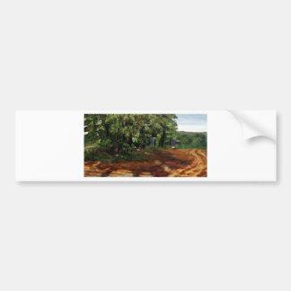 Kenneth_Cobb_landscapesketch2_2001_OilonBoard_12in Car Bumper Sticker