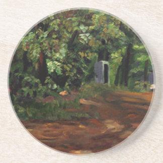 Kenneth_Cobb_landscapesketch2_2001_OilonBoard_12in Coaster