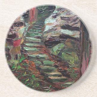 Kenneth_Cobb_landscapesketch_2001_OilonBoard_9inx1 Beverage Coaster